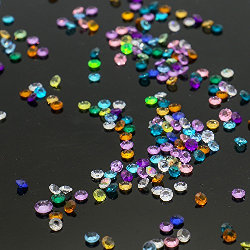 Rugjut 1000Pcs Mixed Color Round 4.5mm Acrylic crystals for Floating Charm Living Memory Lockets Pendants