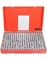 Accusize Industrial Tools 0.251''-0.500'', 250 Pc/Set Steel Plug Pin Gage Set, Minus, Class Zz, M2(-)