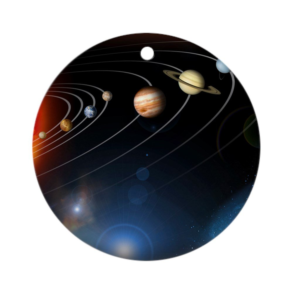 CafePress - Solar System Planets - Round Holiday Christmas Ornament