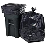 "Plasticplace 95-96 Gallon Garbage Can Liners Heavy Duty Trash Bags, 1.5 Mil, Black, 61"" x 68"", 25 Count"