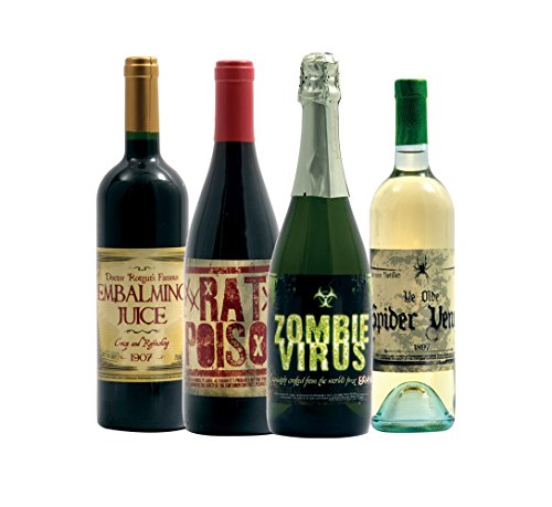 Halloween 2 Slapsticker Wine Bottle Labels -