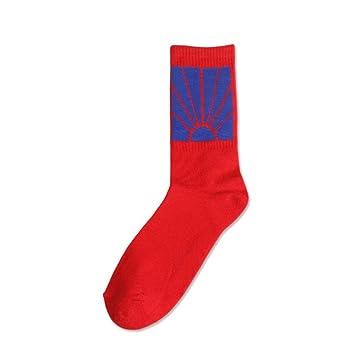 KALENAME (12 Pares Calcetines para Hombre Calcetines de algodón Harajuku Calcetines Largos de Tubo Trend