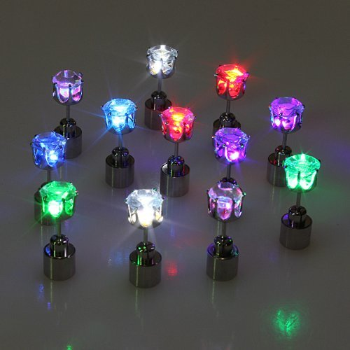 Light up Led Earrings (Multi Color Crown)]()