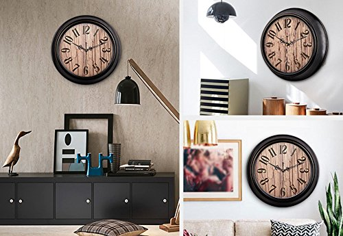 HAOFAY Mute Wall Clock, Vintage Pattern Arabic Numerals Round Clock (vintage) ( Size : 16 inches/40 cm ) by CLOCK (Image #6)