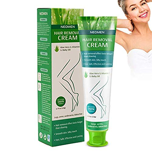 Neomen Hair Removal Cream - Premium Depilatory Cream - Skin Friendly Painless Flawless Hair Remover Cream for Women and Men