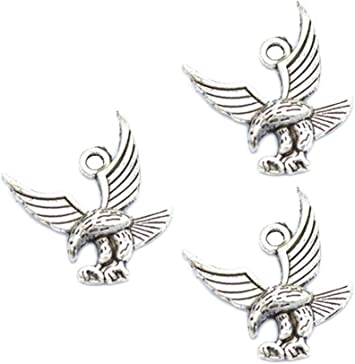 wholesale 10//30pcs Retro Style alloy ancient silver eagle head Charm pendant