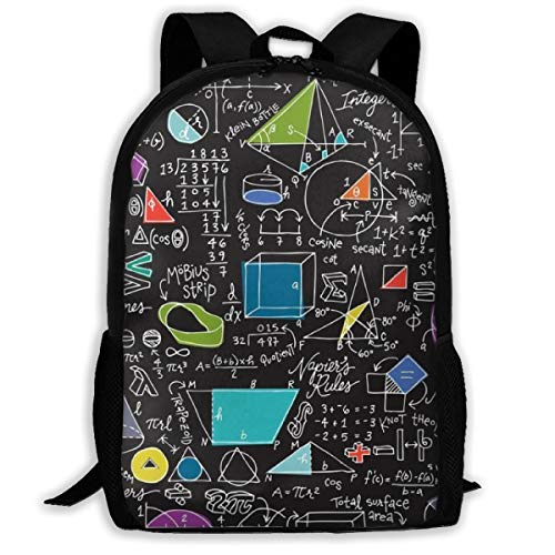 Jiqnajn6 Math Count On It Laptop Backpack,Travel Computer Bag for Women & Men,Anti Theft Resistant College School Bookbag,Business -