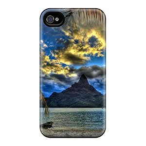 Durable Defender Case For Iphone 4/4s Tpu Cover(another Place Another Time)
