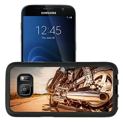 Liili Samsung Galaxy S7 Aluminum Backplate Bumper Snap Case retriver Photo 19682663 iPhone6 IMAGE ID 32728897 Biker girl riding on a motorcycle Bottom view of the legs in leather boots