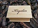 Personalzed musical jewelry box handmade jewelry box with your name on top, handmade by simplycoolgifts