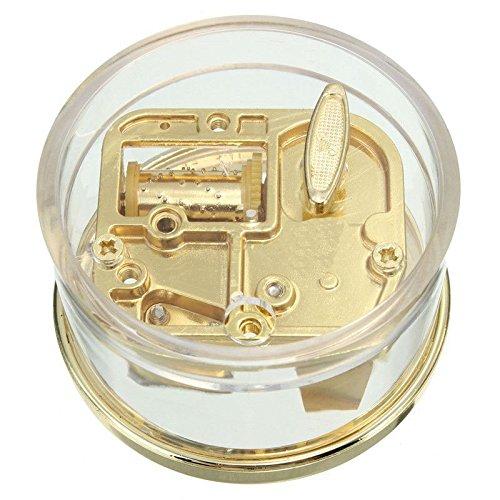 MAYMII Tiny Wind Up Circle in Gold DIY Musical Box Beautiful Melody Gift
