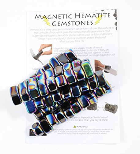 1lb Iridescent Magnetic Hematite Stones - Information Sheet Included! Magnetic Hematite Stones