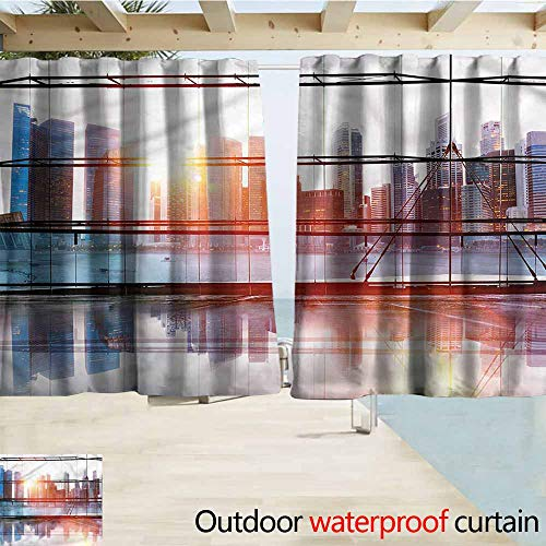 - MaryMunger Window Curtains Office Airport Office Scenery Rod Pocket Energy Efficient Thermal Insulated W72x45L Inches