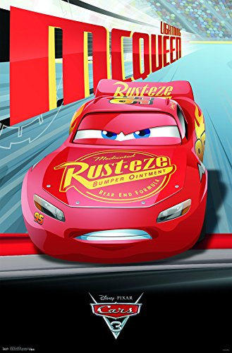 Trends International Disney Cars 3 Lightning McQueen Wall Poster 22.375
