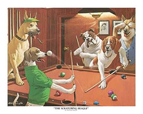 The Scratching Beagle Poster Print by Arthur Sarnoff (24 x 30)