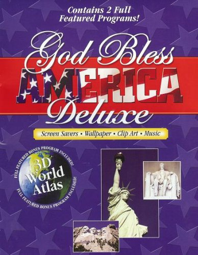 God Bless America Deluxe Screen Savers, Wallpaper, Clip Art & Music **FREE BONUS 3D World Atlas**