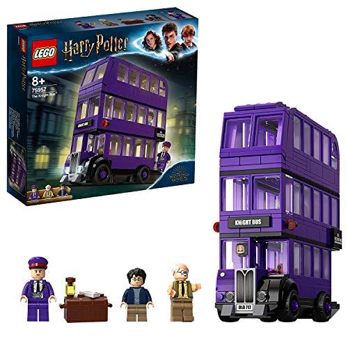 51YBK2rOmeL Incluye 3 minifiguras LEGO Harry Potter (novedad en junio de 2019): Harry Potter, Stan Shunpike y Ernie Prang. Este autobús LEGO de 3 pisos cuenta con un panel lateral abisagrado abatible y un techo desmontable para abrir al máximo las posibilidades de juego. Incluye también una cama que se desliza y una lámpara colgante que se mueve cuando el autobús gira y da un viraje brusco.