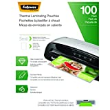 Fellowes Thermal Laminating Pouches, Letter Size 9 x 11.5-Inches, 5 mil, 100 pack (5743501)