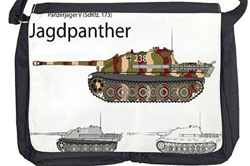 Borsa Tracolla Motivo Retrò Jagdpanther Stampato