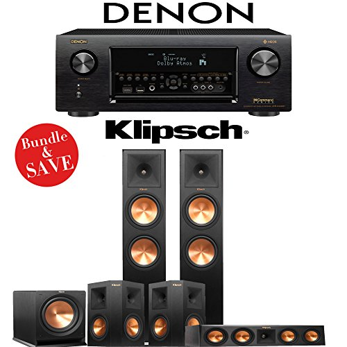Klipsch RP-280F 5.1-Ch Reference Premiere Home Theater System with Denon AVR-X4400H 9.2-Channel 4K Network AV Receiver by Klipsch