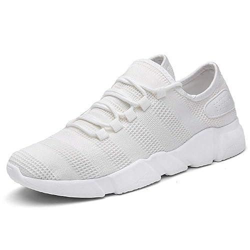 Huatime Transpirables Deportivas Correr Zapatos Hombre - Malla Zapatillas Gym Running Casual Cómodas Calzado Deportivo Planos Informales Shoes: Amazon.es: ...