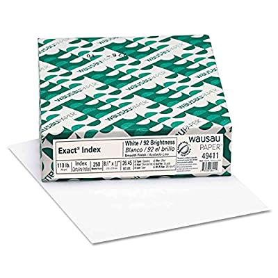 Index Card Stock Copy Paper 110 lb White 2 pk x 250 = 500 Sheets :New by WW shop