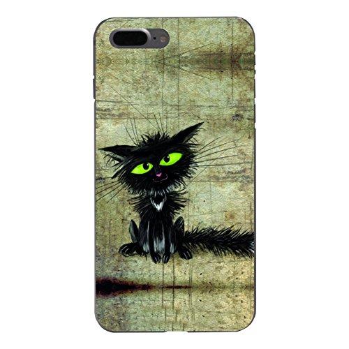 "Disagu Design Case Schutzhülle für Apple iPhone 7 Plus Hülle Cover - Motiv ""Schwarze Katze"""