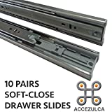 (PACK 10 PAIRS) ACCEZULCA SOFT-CLOSE DRAWER SLIDES (18 INCHES)