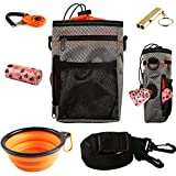 EDUPLINK Dog Treat Training Pouch Dog Training kit Large Capacity Easily Carries Pet Toys Kibble Treats Built-in Poop Bag Dis