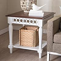 Belham Living Jocelyn End Table - White/Walnut