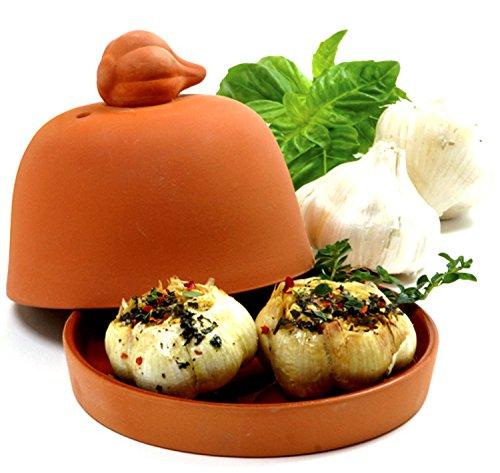 Norpro Large Terra Cotta Glazed Base Garlic Baker ()