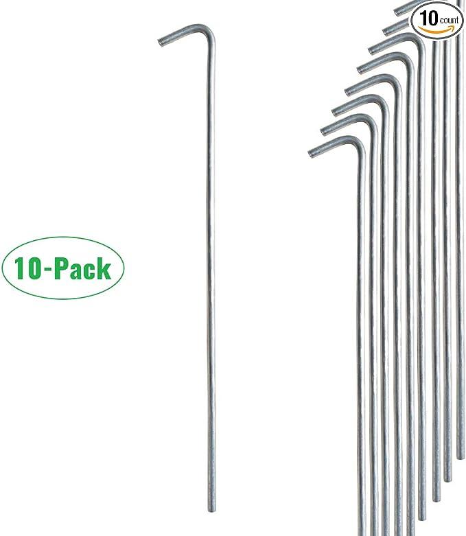 GLOW IN THE DARK Tent Stakes Steel Metal Spike Galvanized Pegs Practical