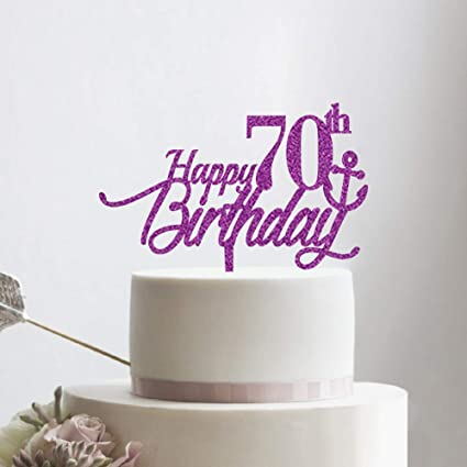 Image Unavailable Not Available For Color KISKISTONITE Happy Birthday Cake Topper 70
