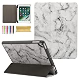 Coopts iPad 9.7 2017 Case, New iPad 9.7 2018,iPad Pro 9.7,iPad Air 1/Air 2 Case, Marble PU Leather Magnet Case Cover with Pen Holder for Apple iPad 6th / 5th Gen, iPad Air 1/2, iPad Pro 9.7, Black
