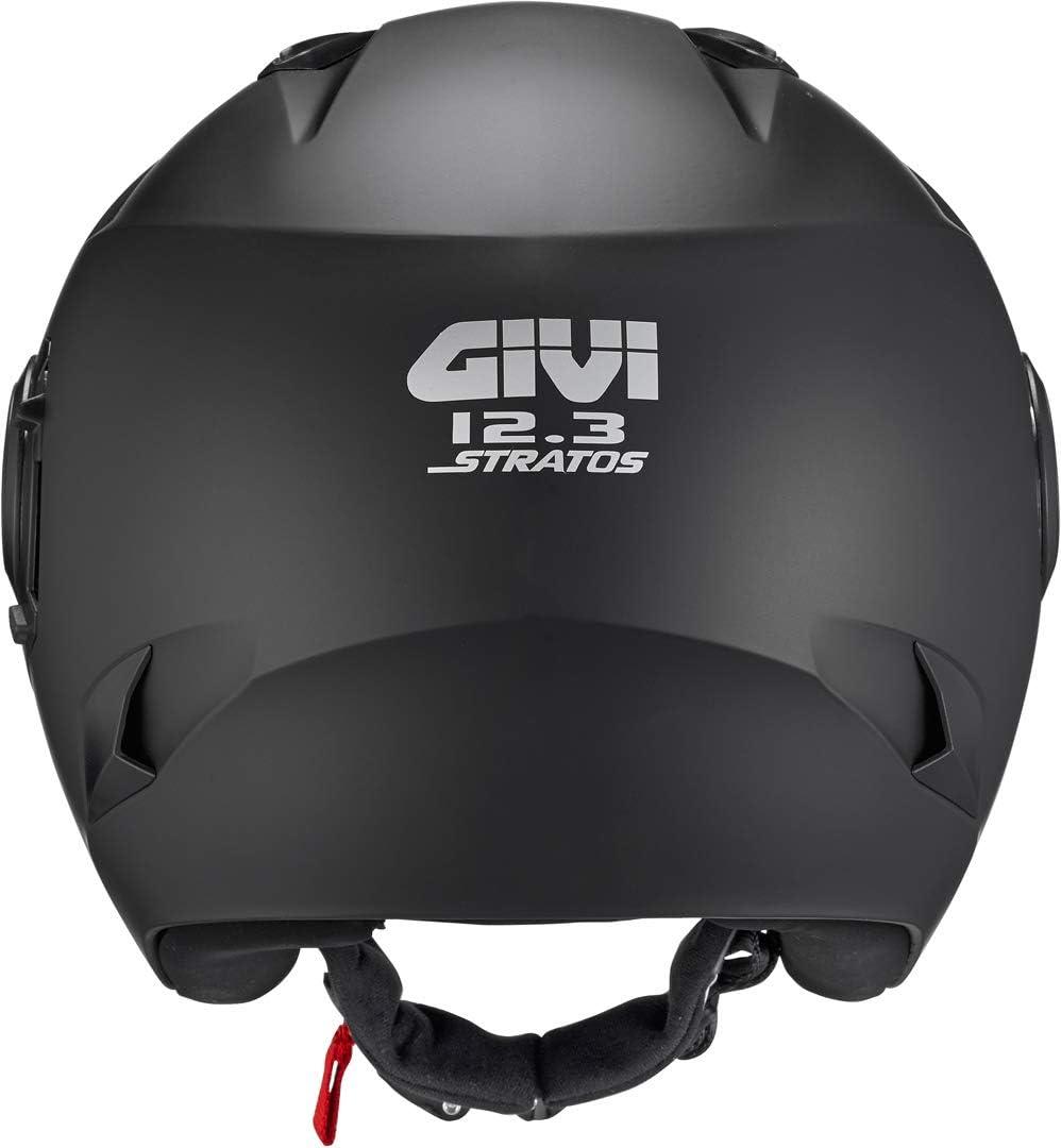 GIVI H123BN90054 Hps 12.3 Stratos Deni Jet Casco Talla 54//XS Color Negro Mate