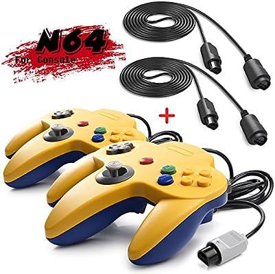 iNNEXT 2 Set Retro 64-Bit N64 Controller Gamepad Joystick