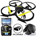 Force1 Drones with Camera for Adults and Kids - U818A WiFi FPV 720p HD Camera Drone Quadcopter, RC WiFi FPV Drone w/ Camera Live Video and VR Headset from Force1