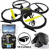 U818A WiFi FPV 720p HD Camera Drone Quadcopter, RC WiFi FPV Drone w/ Camera Live Video and VR Headset