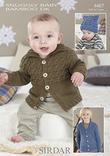 - Sirdar Baby Cardigans Knitting Pattern 4467 DK
