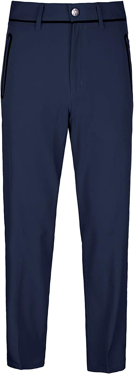 Men's Golf Pants Tech Performance Quick Dry Relaxed Fit Straight Leg Stretch Casual Flat Front Bright Pants