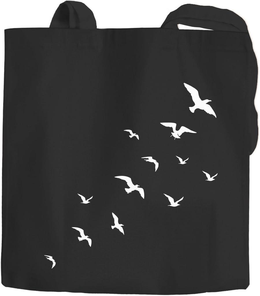 Yute bolsa Asa Larga Pájaros Birds Fly funda de algodón bolsa de ...