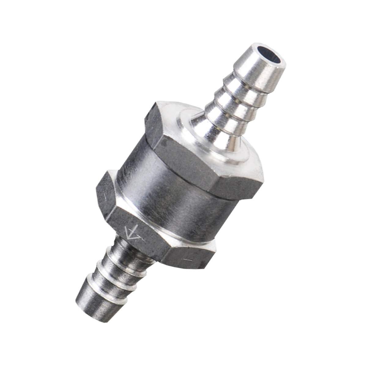 GOFORJUMP Aluminiumlegierung 60mm-L/änge 8mm 5//16Kraftstoff-R/ückschlag-R/ückschlagventil f/ür Benzin-Diesel-Marinepfeil auf Ventil markiert