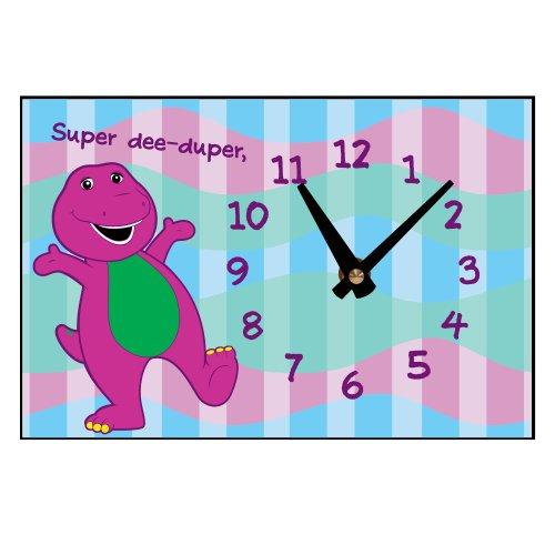 PBS KIDS Barney Super Dee-Duper Desk Clock