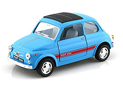 Amazon Com Fiat 500 1 24 Light Blue Toys Games
