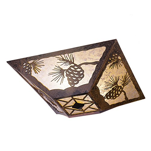 Steel Partners Lighting Drop Ceiling Mount, Pinecone