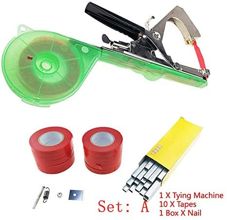 Neue Bind Branch Machine Gartengeräte Tapetool Tapener Stem Strapping Size 20PCS Red Tape