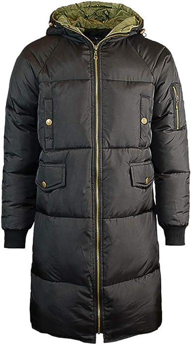Hommes Coton Veste D/'Hiver à Capuche à Manches Longues Trench Coat Chaud Pardessus Parka
