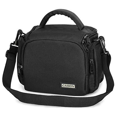 CADEN Compact Camera Shoulder Bag Case for DSLR/SLR Nikon Canon Sony Mirrorless Cameras and Lenses