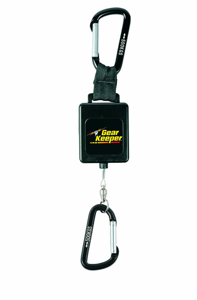 Gear Keeper RT3-4548 Retractable Instrument Tether with Aluminum Carabiner, 80 lbs Breaking Strength, 48 oz Force, 22'' Extension