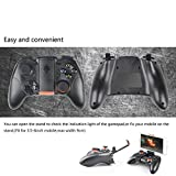 Wireless Bluetooth Games Controller, RK GAME 4 generation support Handle for Android Phone / iPhone/Tablet / TV Box / Gear VR Controller plastic black, by LC Prime